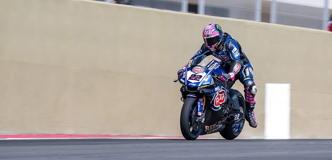 Alex Lowes at the World SBK in Argentina